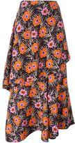 Marni floral print asymmetric skirt