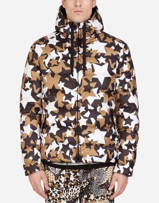 Dolce & Gabbana Reversible Nylon Jacket With Star Print