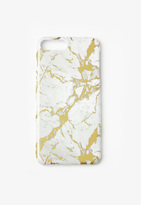 Missguided Gold Marble iPhone 7+ Case