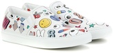 Anya Hindmarch All Over Wink Leather Slip-on Sneakers