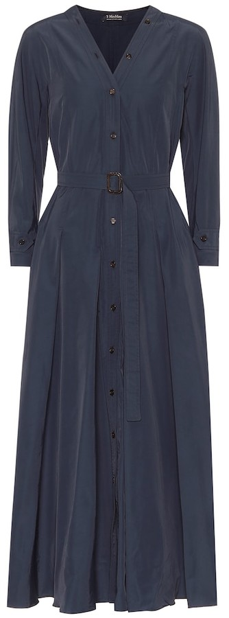 S Max Mara Panca cotton-blend shirt dress