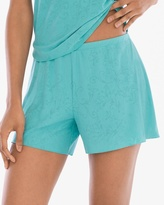 Soma Intimates Scroll Burnout Print Pajama Shorts
