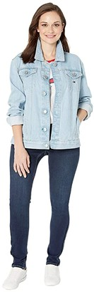 Tommy Hilfiger Adaptive Denim Jacket With Magnetic Buttons (Light Wash) Women's Clothing
