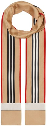 Burberry Icon Stripe print skinny scarf