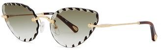 Chloé Rosie Gold-tone Cat Eye Sunglasses
