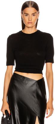 Jil Sander Short Sleeve Sweater in Black   FWRD