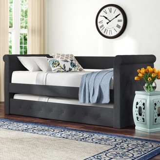 Charlton Home Reasor Twin Daybed with Trundle Color: Dark Gray