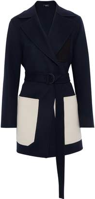 Joseph Marcus Color-block Wool And Cashmere-blend Felt Coat