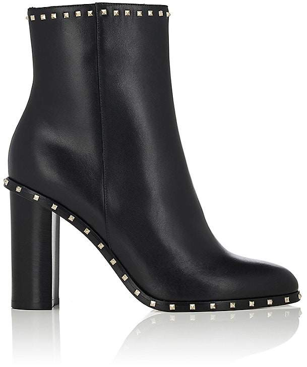 Valentino Women's Rockstud Leather Ankle Boots