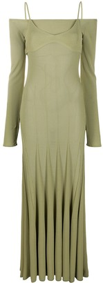 Jacquemus La robe maille Valensole long dress