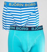 Bjorn Borg 2 Pack Trunks With Summer Stripe