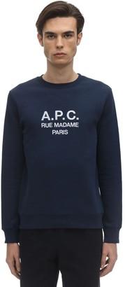 A.P.C. Rufus Logo Printed Cotton Sweatshirt
