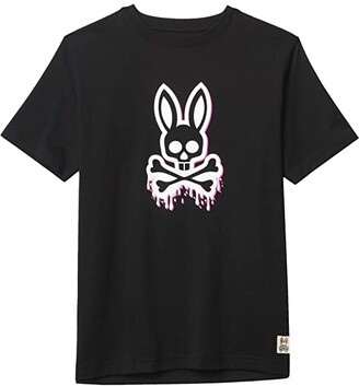 Psycho Bunny Kids Portland Graphic Tee (Toddler/Little Kids/Big Kids) (Black) Boy's Clothing