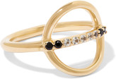 Elizabeth and James Aloba gold-tone crystal ring