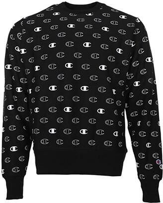 Champion Reverse Weave(r) Crew - Tossed C Logos All Over Print (C Logo Spaced Black) Men's Sweatshirt