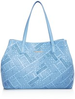 Love Moschino Embossed Logo Leather Tote