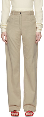 CHRISTOPHER ESBER Beige Tailored Panel Jeans