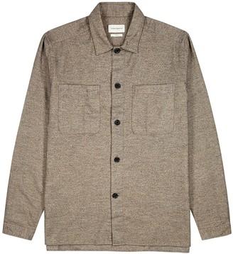 Oliver Spencer Eltham Taupe Brushed Cotton Overshirt