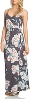 1 STATE 1.state Floral Print Maxi Wrap Dress