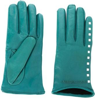Emporio Armani Stud Detail Gloves