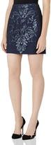 Reiss Georgianna Sequin Lace Mini Skirt