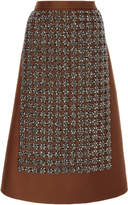 Rochas A-Line Embroidered Skirt