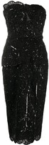 ZUHAIR MURAD fitted sleeveless embellished dress