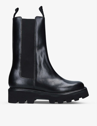 Grenson Doris heeled leather Chelsea boots