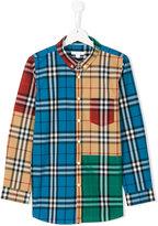 Burberry colourblock plaid shirt