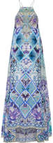 Camilla Chinese Whispers Embellished Printed Silk-georgette Maxi Dress - Azure