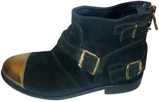 Balmain For H&m Black Leather Ankle boots