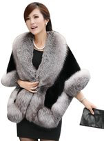 SK Studio Women's Shaggy Faux Fur Coat Jacket