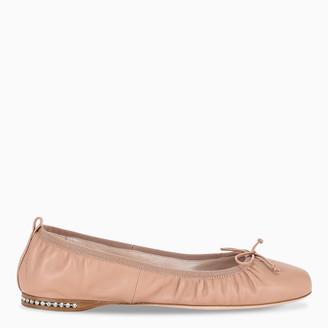 Miu Miu Black round toe ballerinas