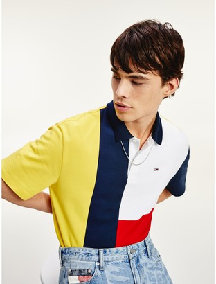 Tommy Hilfiger Organic Cotton Colorblock Polo