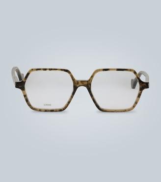 Loewe Hexagonal-frame acetate glasses