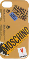 Moschino warning logo iPhone 7 case - women - Acrylic - One Size