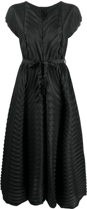Issey Miyake Pleated Flared Dress
