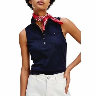 Tommy Hilfiger Women's NO Sleeve Slim Polo Shirt