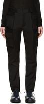 Calvin Klein Collection Black Velcro Cargo Trousers