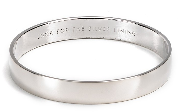 """Kate Spade Look for the Silver Lining"""" Idiom Bangle"""