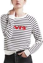 Levi's Women's Striped Crewneck Sweatshirt