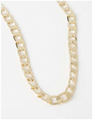 Basque Flat Curb Chain Necklace