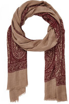 Luciano Barbera MEN'S PAISLEY LIGHTWEIGHT CASHMERE TWILL SCARF