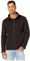 Timberland Studwall Full Zip Textured Fleece (Jet Black) Men's Clothing