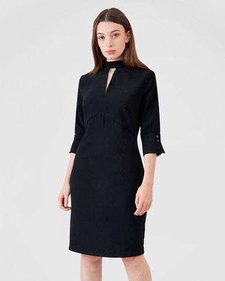 Aris Long Sleeve Keyhole Dress