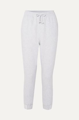 adidas Coeeze Organic Cotton-blend Fleece Track Pants - Light gray