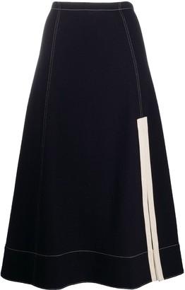 Jil Sander A-line side slit midi skirt
