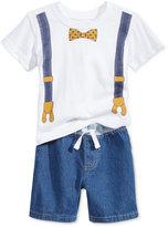 Nannette 2-Pc. Cotton Graphic-Print T-Shirt and Shorts Set, Baby Boys (0-24 months)