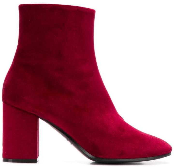 Balenciaga logo heel ankle boots