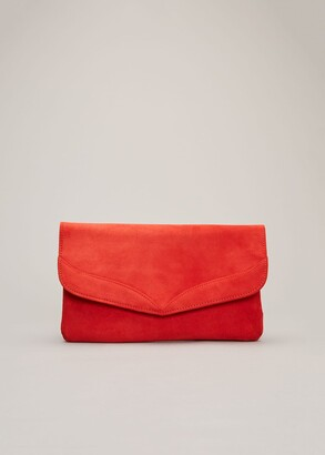 Phase Eight Caitlin Suede Clutch Bag